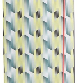 House Doctor Notebook Geometrisch Geel/Blauw