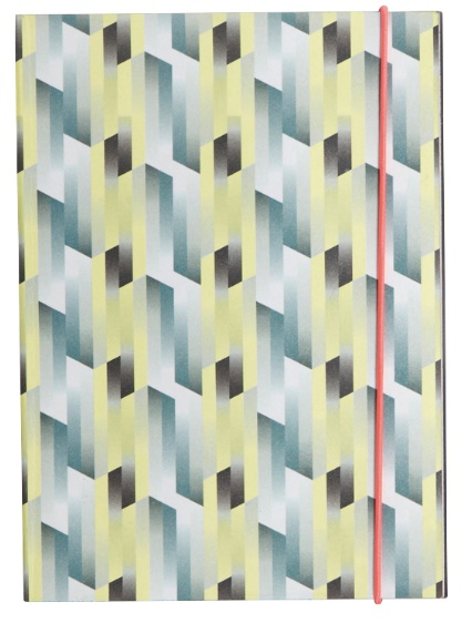 House Doctor Notebook Geometrisch Geel/Blauw
