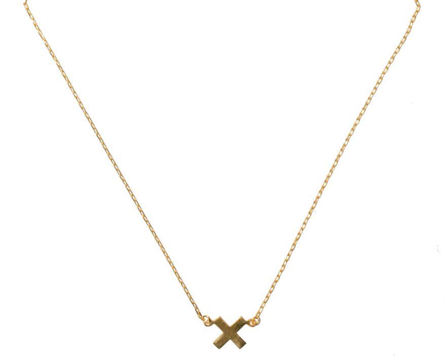 June-T Ketting Cross Goud
