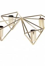 Hubsch Kaarsen standaard goud