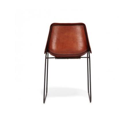 Lederen stoel donker bruin
