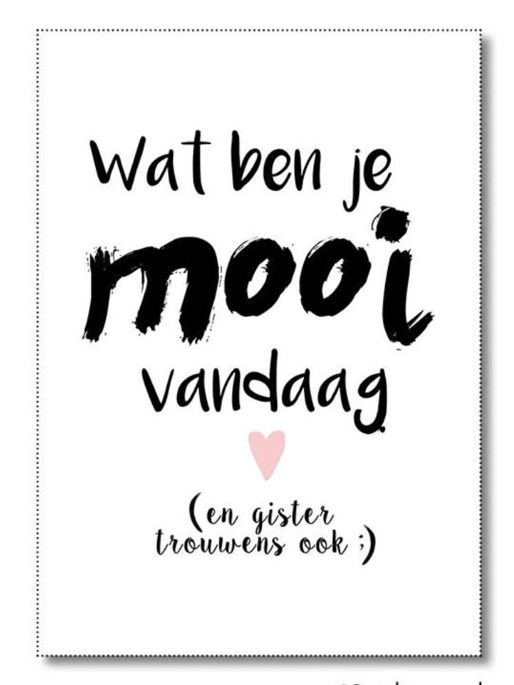 Poster WAT BEN JE MOOI