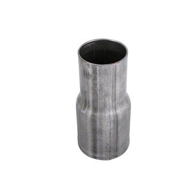 """Metalen ver loopstuk van 2.5"""" > 2'', vloeiend verloop in 2 mm dunne buis."""