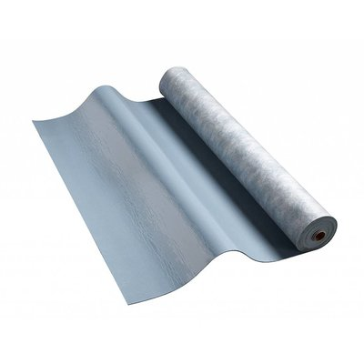 Universol geluidsisolerende ontdreuningsmat op rol 5 m². Gewicht 14,25 kilo, 3,2 mm dik
