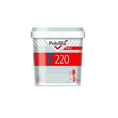 Polyfilla F 220 pro vulmiddel 2,5 kg & 1,5 kg gratis