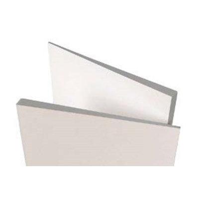 Verloop profiel-plaat (afmeting plaat 100 x 30 cm)
