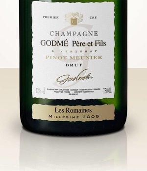 Hugues Godmé Extra Brut Pinot Meunier 1er Cru Les Romaines 2005