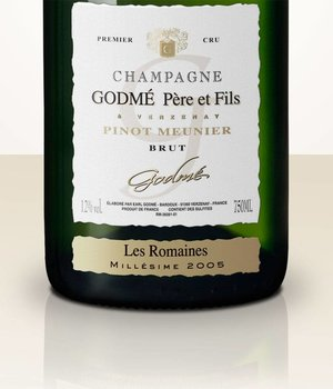 Hugues Godmé Extra Brut Pinot Meunier 1er Cru Les Romaines 2007