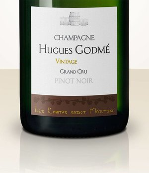 Hugues Godmé Extra Brut Pinot Noir Grand Cru Les Champs Saint Martin 2008