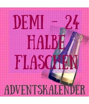 Präsente Adventskalender mit 24 Halbflaschen