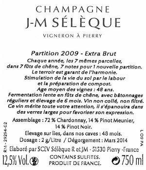J-M Sélèque Partition 2011