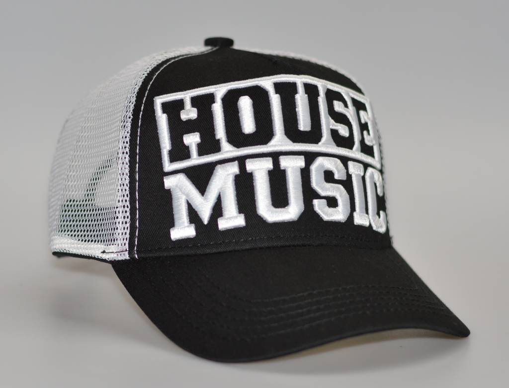 Cap house music 3d borduring black 39 for Black house music