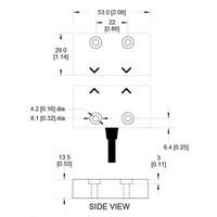 Magnetische RVS contactloze veiligheidsschakelaar MS4-SS