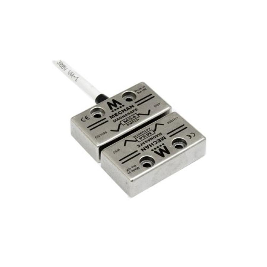 Non-contact stainless steel magnetic safety switch MS4-SS