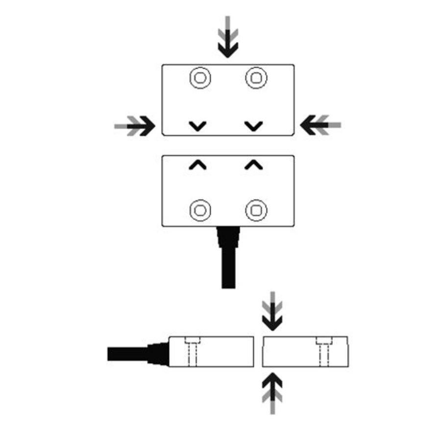 Magnetische RVS contactloze veiligheidsschakelaar MS5-SS