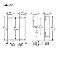 Magnetische contactloze veiligheidsschakelaar MS6