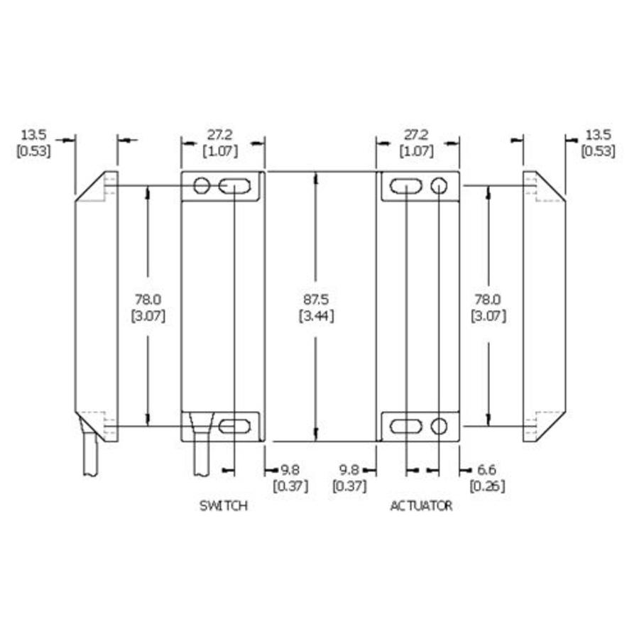 Non-contact magnetically coded safety switch MS7
