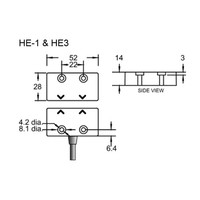 Non-contact magnetically coded safety switch HE1