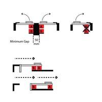 Berührungslose magnetisch codierte Sicherheitsschalter HE1-SS