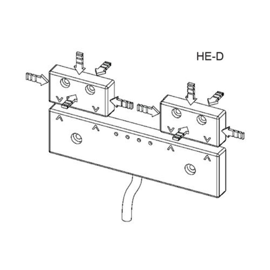 Magnetisch gecodeerde dubbele contactloze veiligheidsschakelaar HED