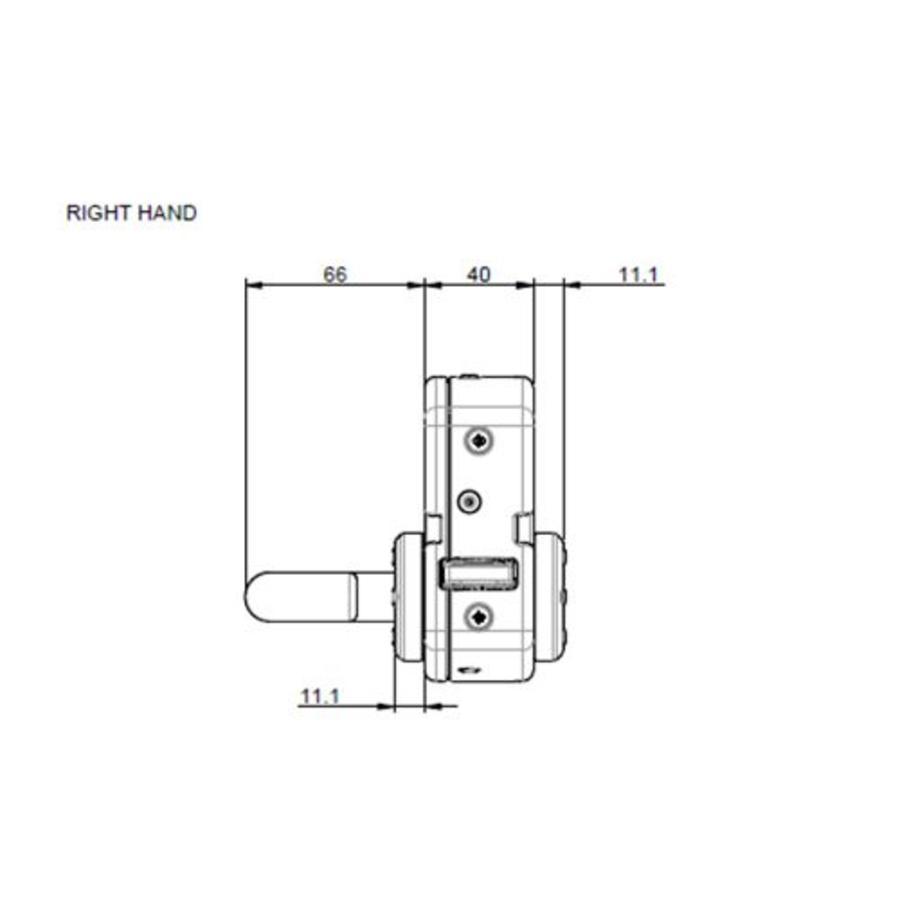 Vergrendelbare veiligheidsschakelaar met deurklinkbediening