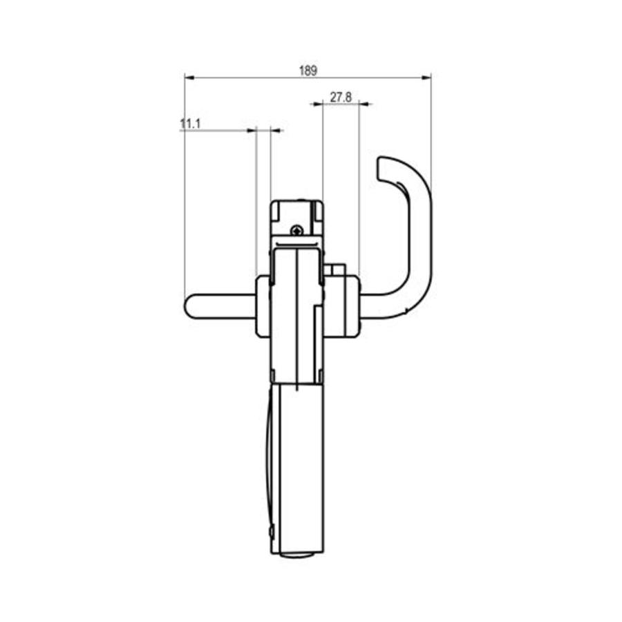 Handle operated solenoid safety interlock switch with internal release