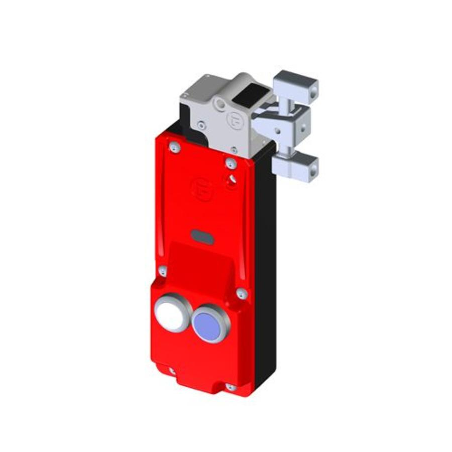 Sicherheitszuhaltung mit getrenntem Betätiger und Drucktastern