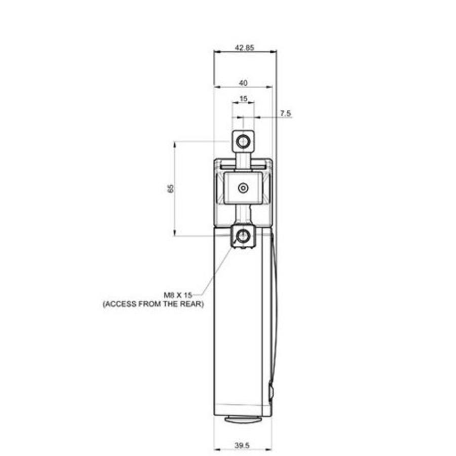 Extreem robuuste tongbediende stalen veiligheidsschakelaar met vergrendeling PLe