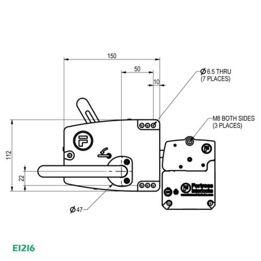 Door handle and head EI2I6 - EI4I6