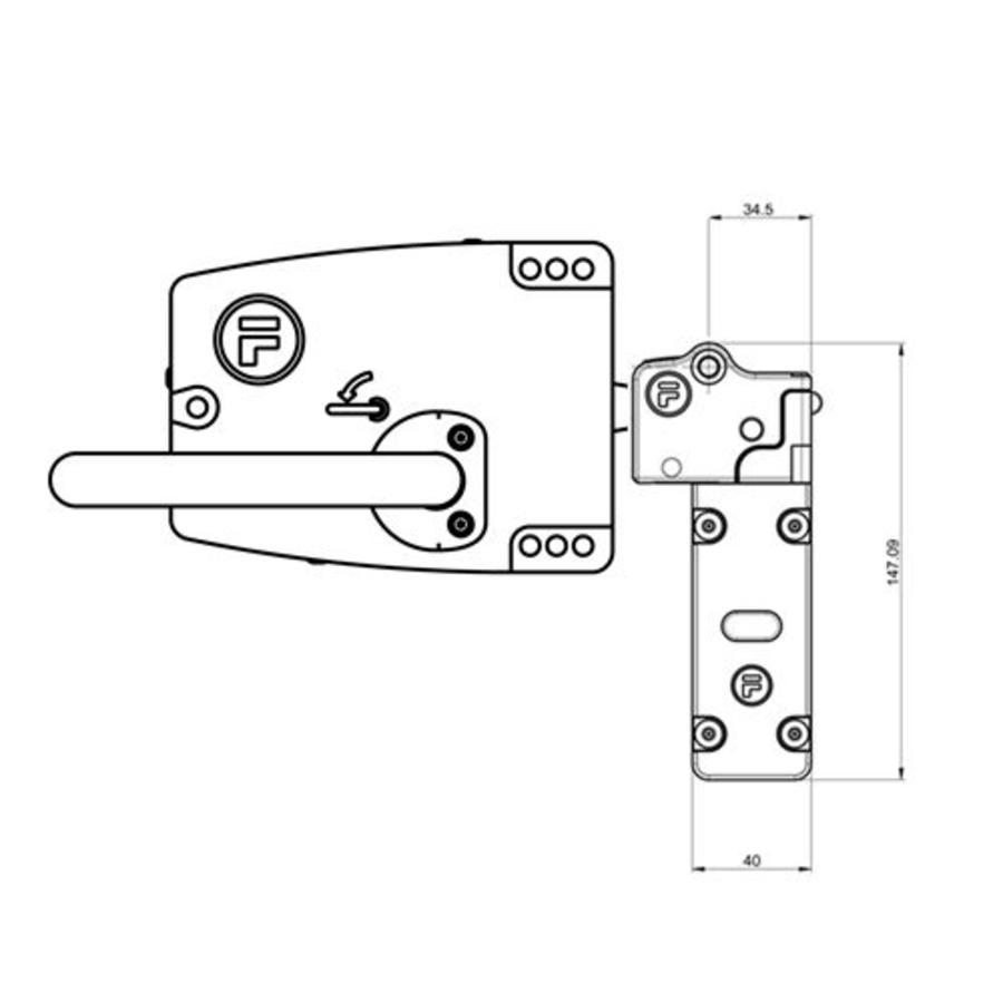 Veiligheidsschakelaar met deurklinkbediening