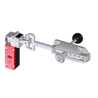Slidebar operated safety interlock switch with internal release