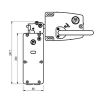Extreme robust door handle operated steel safety interlock switch with push button PLe.