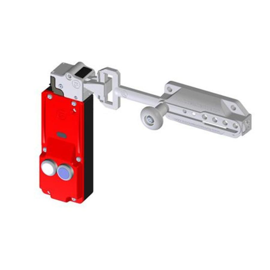 Slidebar operated solenoid safety interlock switch c/w push buttons