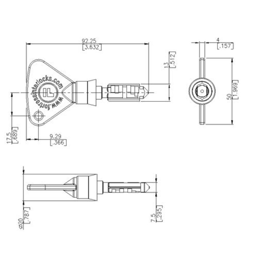 Actuator operated safety interlock switch with safety key