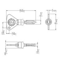 Slidebar operated safety interlock switch with safety key