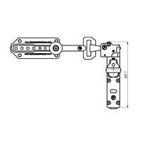 Veiligheidsschakelaar met schuifgrendel en veiligheidssleutel