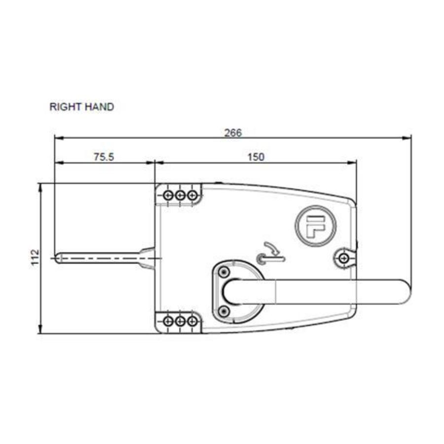 Handle operated safety interlock switch with safety key