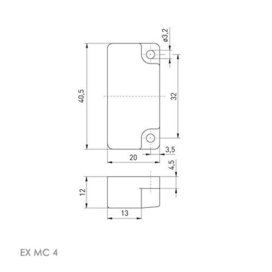 Non-contact coded magnetic safety switch Ex