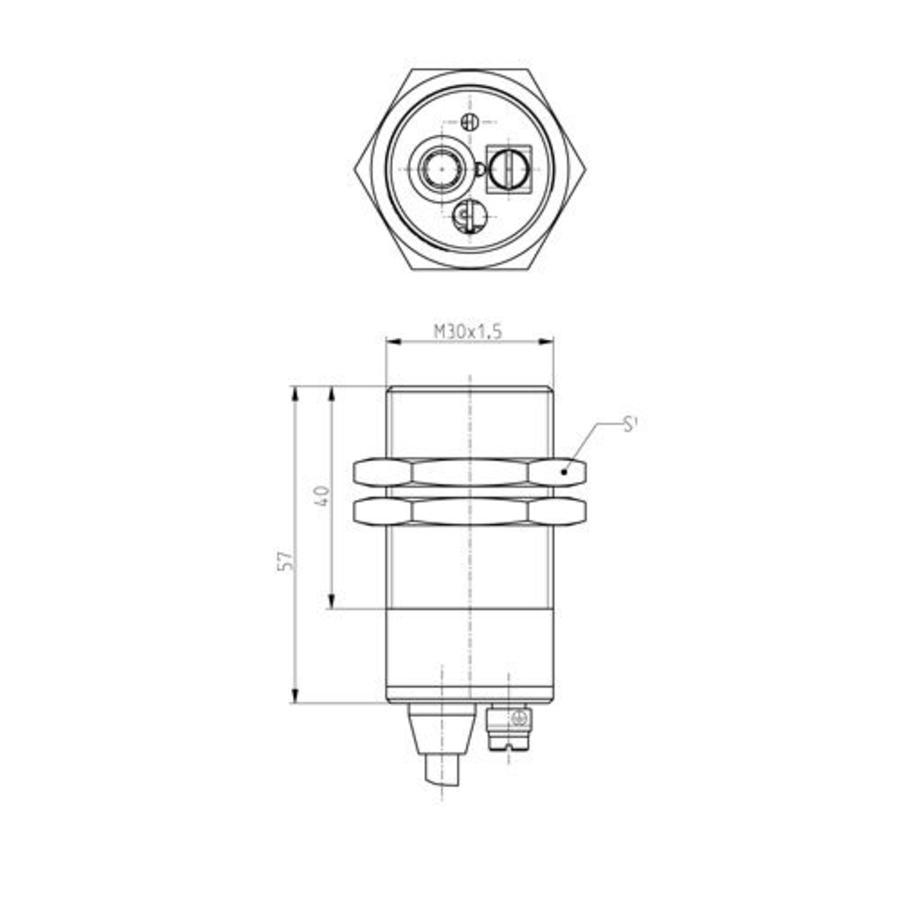 Magnetisch gecodeerde RVS contactloze cilindrische (M30) veiligheidssensor Ex