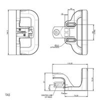 Handle operated aluminium safety switch PLd