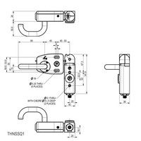 Door handle operated aluminium safety switch with internal release PLd