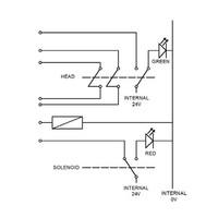 Door handle operated solenoid safety interlock switch