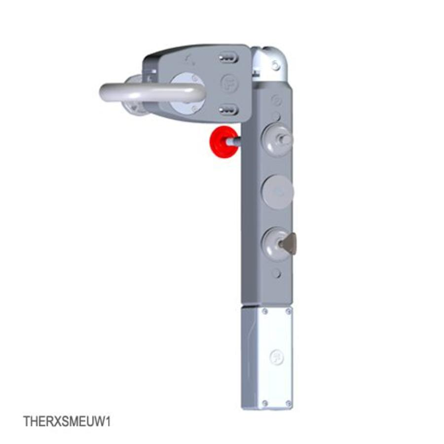 Door handle operated solenoid safety interlock switch with internal release