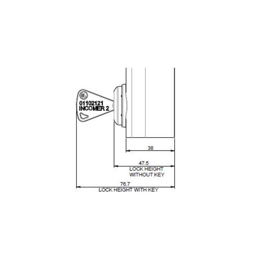 Sicherheitsschalter aus Aluminum mit feste Betätiger und persönlichen Sicherheitsschlüssel PLd
