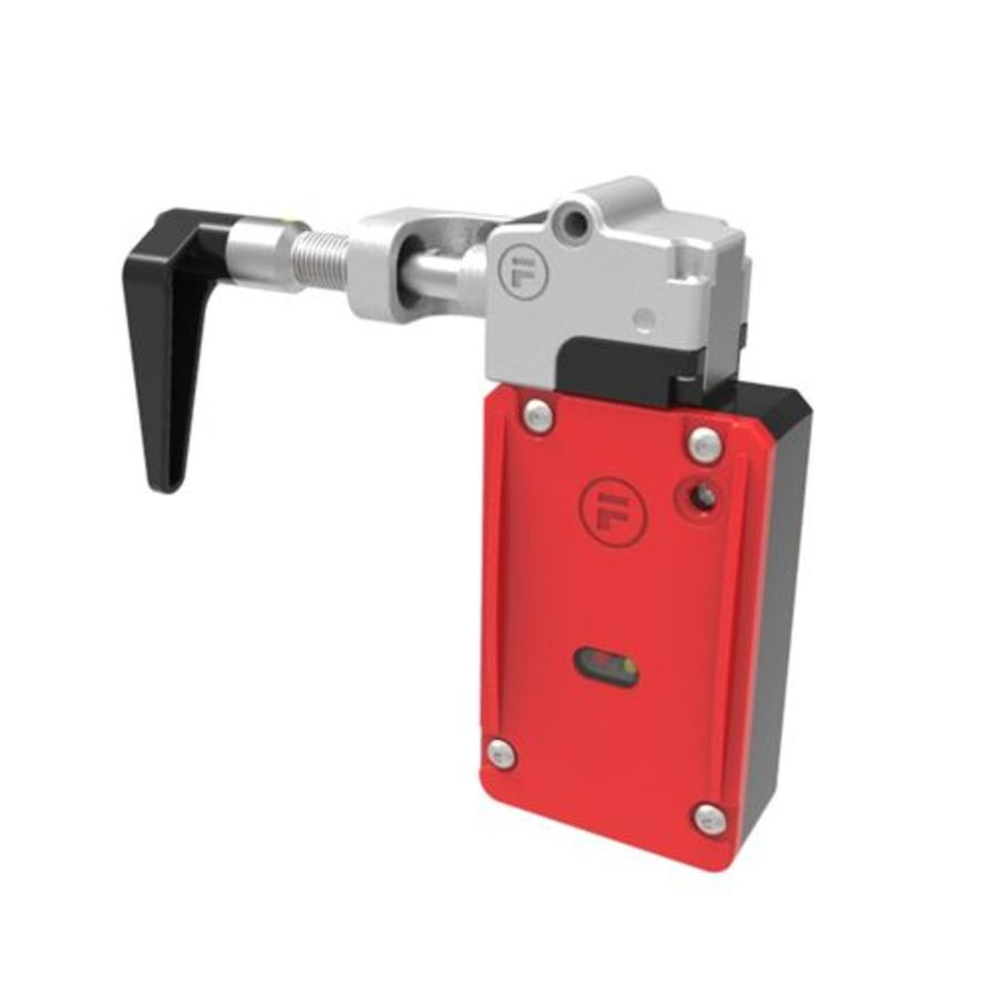 Handle operated solenoid safety interlock switch
