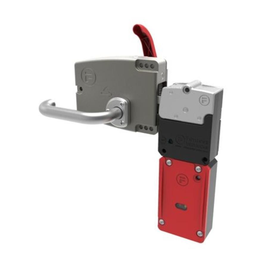 Vergrendelbare veiligheidsschakelaar met deurklinkbediening incl. noodontgrendeling