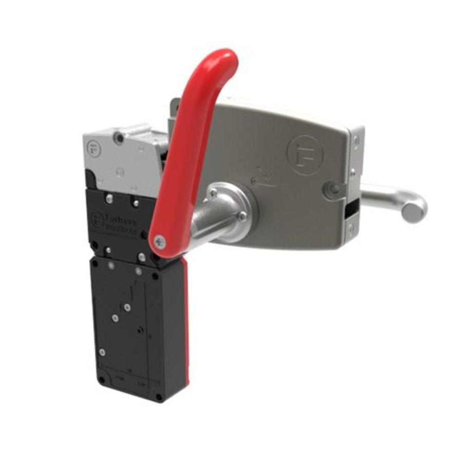 Extreme robust door handle operated steel safety interlock switch with emergency release PLe.