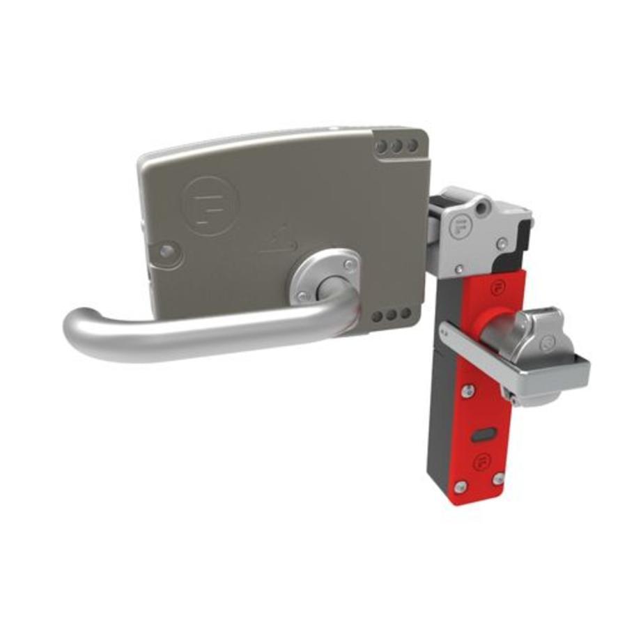 Extreem robuuste deurklink bediende stalen veiligheidsschakelaar met veiligheidssleutel (verplichte sleuteluitname)  PLe