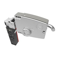 Extreme robust door handle operated aluminium safety switch with safety key (extracted key) PLe