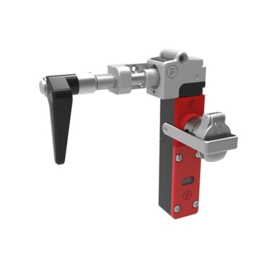 Extreme robust handle operated aluminium safety switch with safety key (extracted key) PLe